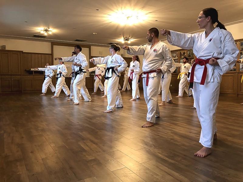 koreanisches Karate und Selbstverteidugung Fitnesskickboxen
